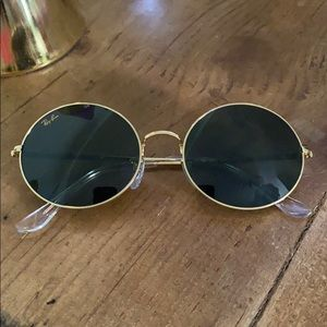 oval 1970 legend gold ray-bans